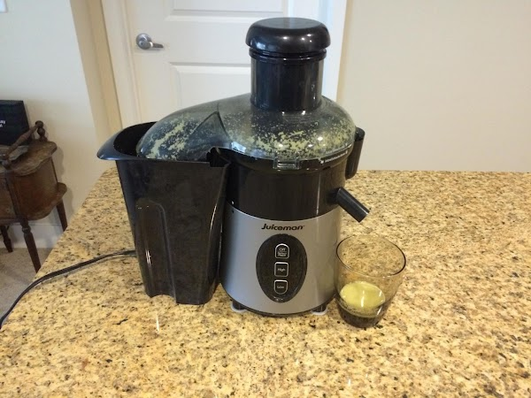 Take the peeled ginger root and run through a juicer on low speed. ...
