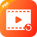 Recover deleted video: Backup - recover video icon