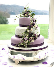 Photo: Pretty Purple Wedding Cake by Chaleywoo (7/11/2012) View cake details here: http://cakesdecor.com/cakes/21260