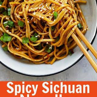 Spicy Sichuan Noodles.