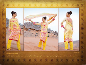 Photo: CODE: 1062 -FABRIC-TOP COTTON-BOTTOM COTTON-DUPATTA CHIFFON . Price : USD 31