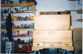 Photo: Oak hope chest for my niece - my first attempt at hand-cut dovetails...