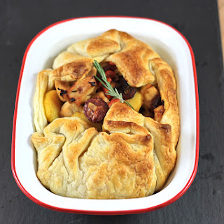 Chorizo, Chicken and Potato Open Pie.