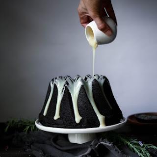 Chocolate Earl Grey Cake with Lavender Ganache.