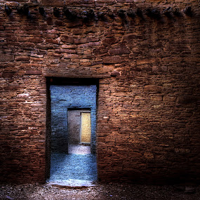 Blue Room by Roch Hart - Buildings & Architecture Public & Historical ( chaco canyon, archaeological, new mexico, mystery, blue, ruin, ancestral pueblo, roch hart, journey, rooms, room, nm, landmark, travel )