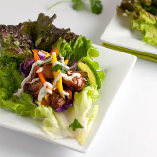 Thai Chicken Lettuce Wraps with Cashew Cream