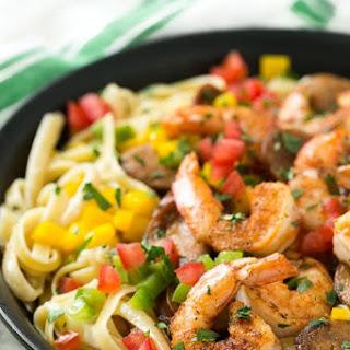 Cajun Shrimp and Sausage Pasta.