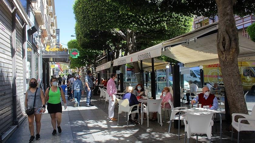 Vista del Paseo de Almería.