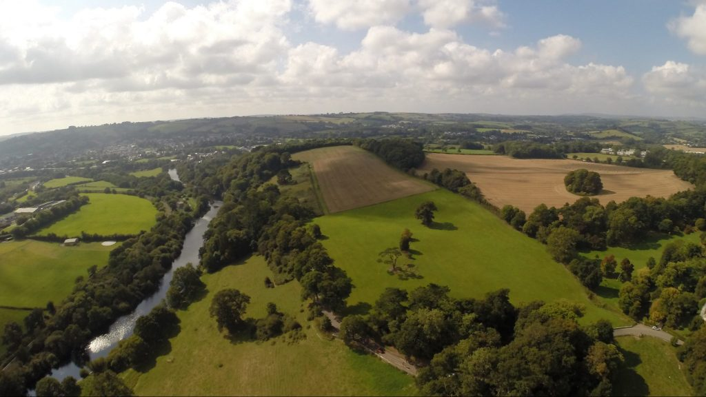 Aerial view of the River Dart