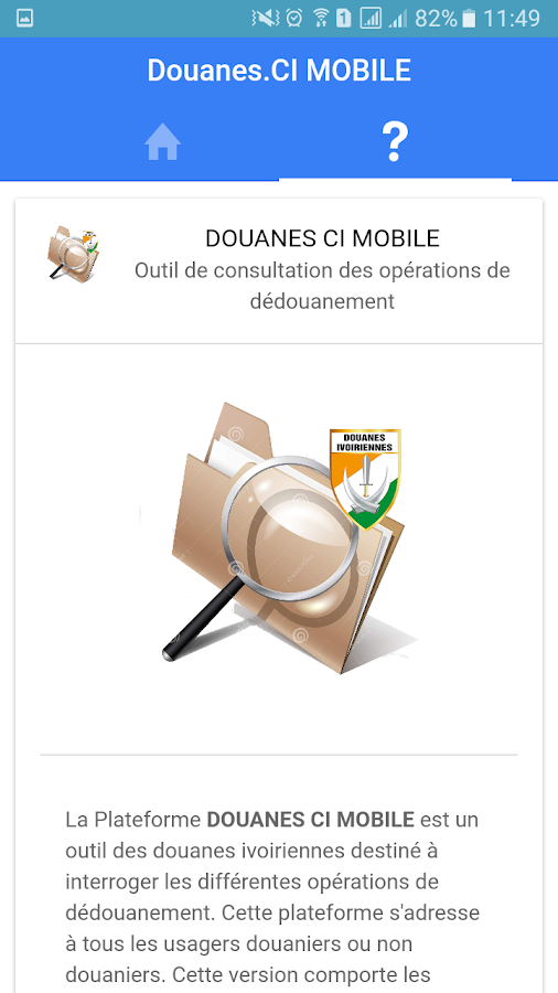 Douanes.CI Mobile – Capture d'écran