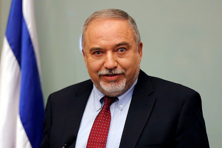 Israel's former defence Minister Avigdor Lieberman delivers a statement at the Knesset, in Jerusalem, November 14 2018. Picture: REUTERS/AMMAR AWAD