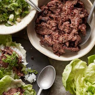 Beef Bulgogi Lettuce Wraps.