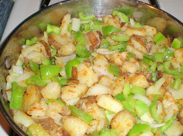 Potatoes, Peppers And Onions Recipe