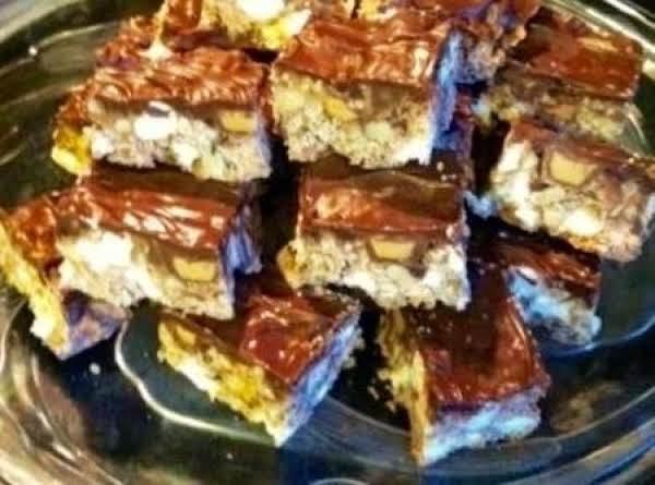Crispy Peanut Butter Fudge Bars By Noreen