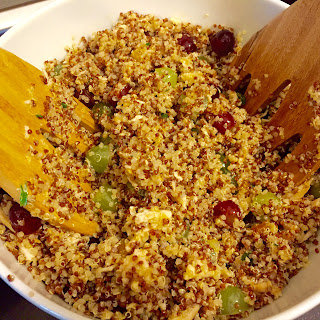 Red and White Quinoa with Grapes
