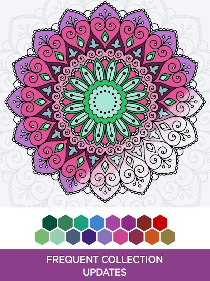 coloring book mandalas screenshot - Cloring Book
