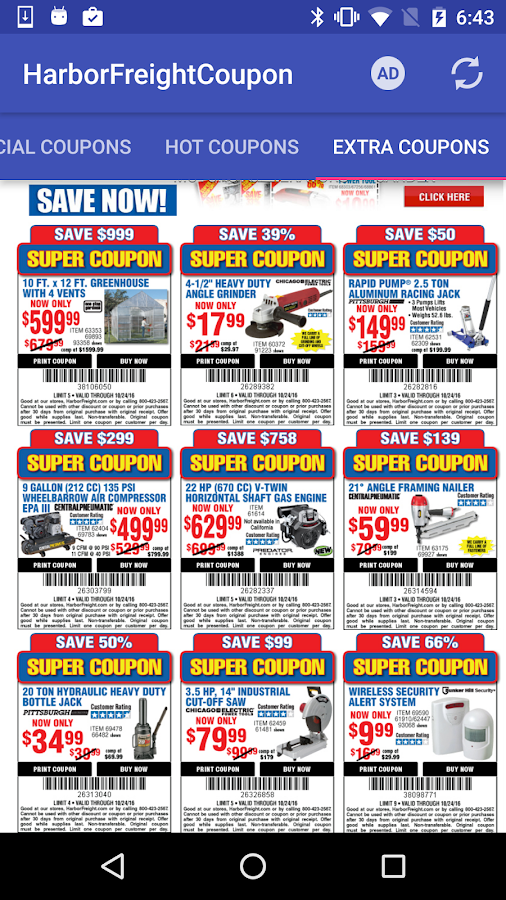 Coupons for harbor freight android apps on google play coupons for harbor freight screenshot fandeluxe Gallery