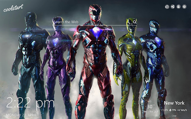 Power Rangers HD Wallpapers New Tab Theme