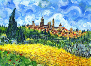 Photo: 'omage to Vincent Van Gough & San Gimignano