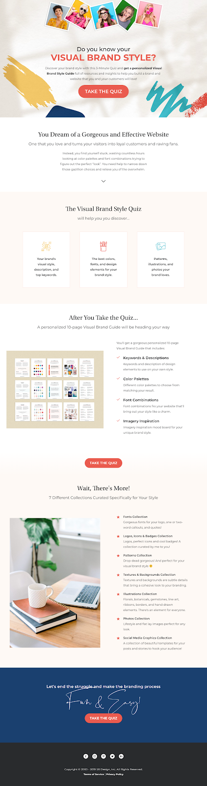 Do you know your visual brand style? landing page