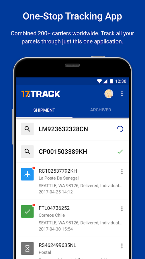 ALL-IN-ONE PACKAGE TRACKING- screenshot