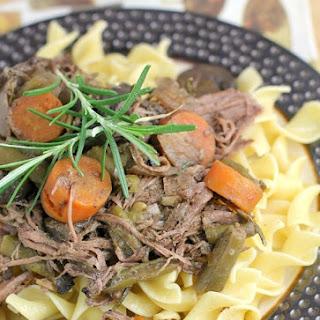 Rosemary Pot Roast {A Freezer-to-Crockpot Meal}.
