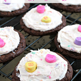 Conversation Heart Frosted Brookies