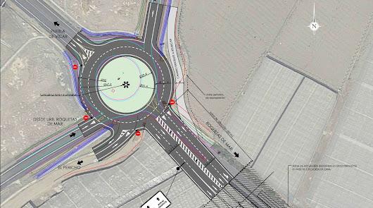 Una nueva rotonda para agilizar el tráfico en Roquetas