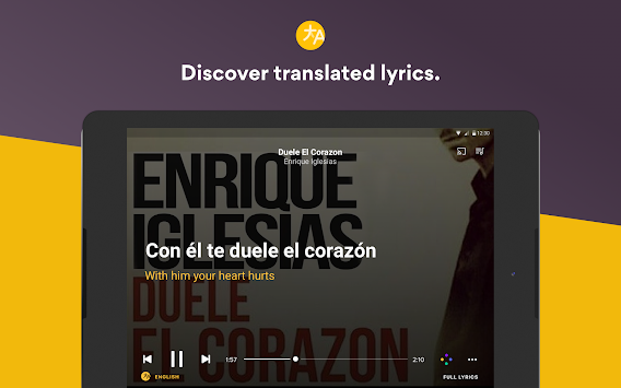 Musixmatch Music Player Letras APK screenshot thumbnail 10