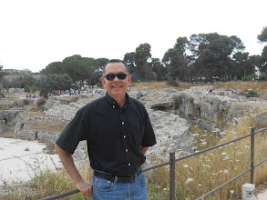 Photo: Me, visiting the Roman Amphitheater in Siracusa.