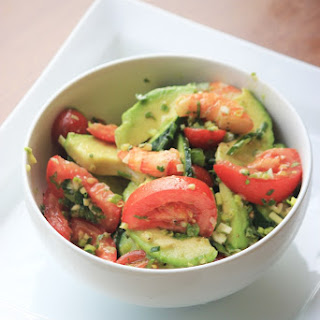 Shrimp & Avocado Salad with a Fresh Basil Vinaigrette