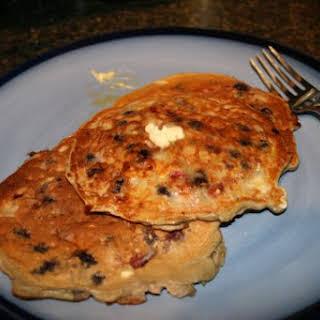 Double Berry Protein Pancakes.