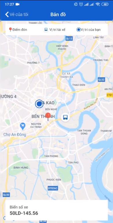 Hướng dẫn sử dụng app VeXeRe tìm vị trí xe khách