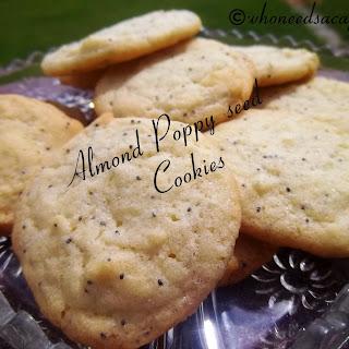 Almond Poppy seed cookies.