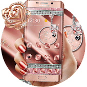 Rose Gold Silk Diamonds Luxury theme