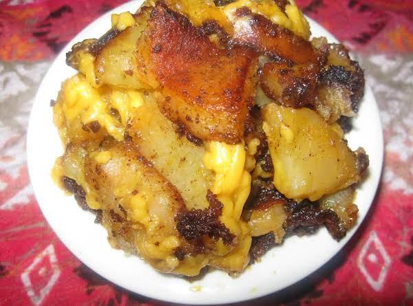 Cheesy Chorizo Potatoes
