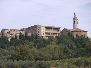 Photo: Pienza, start and finish of our walk.