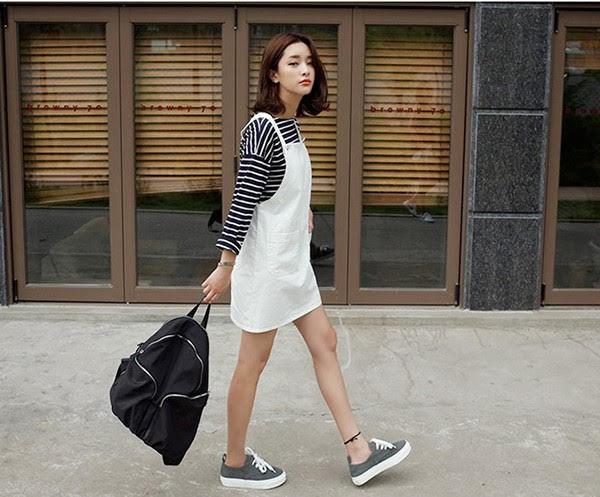 9 kiểu 【MixMatch】mặc váy đi giày thể thao cho nàng cá tính !