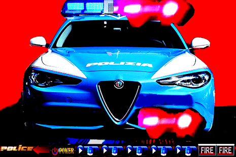 Car Police Italy Siren & Lights - náhled