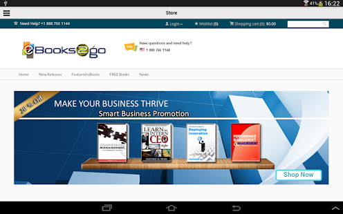 eBooks2go Reader- screenshot thumbnail