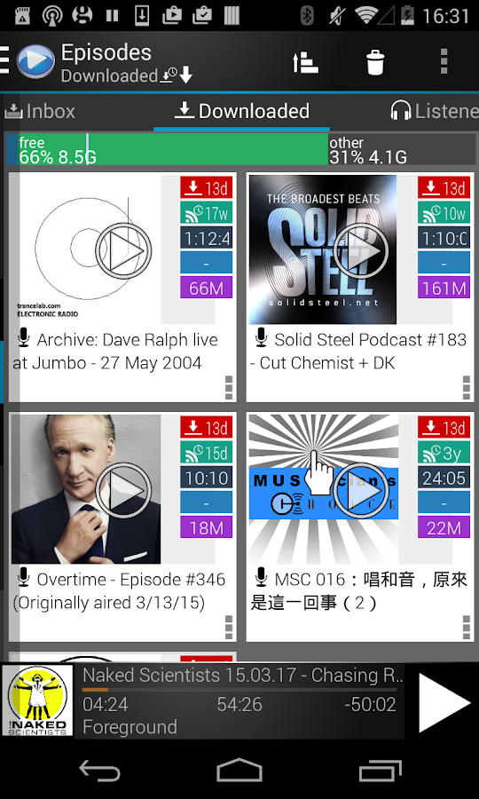 MyPOD Podcast Manager Free- screenshot