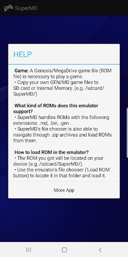 SuperMD (MD/GEN Emulator) 3.1.1 screenshots 2