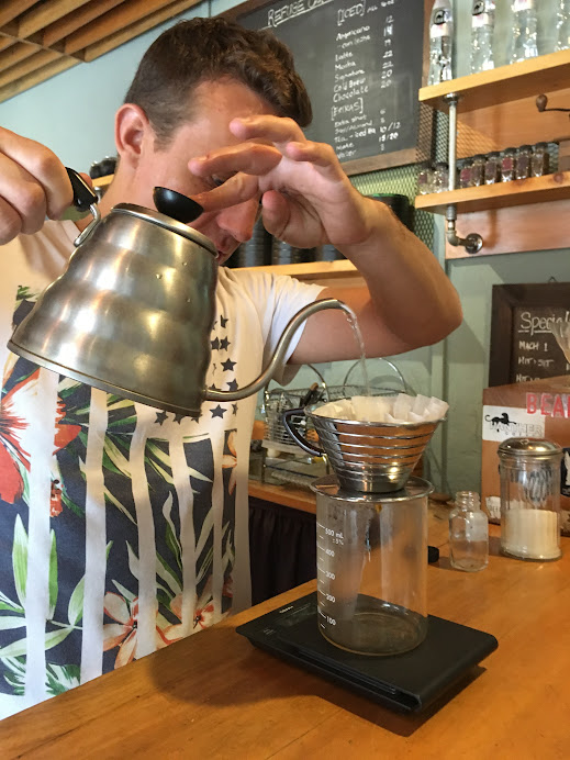Delicious pourover from Cafe Refuge in Antigua, Guatemala