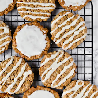 Vegan Old-Fashioned Iced Oatmeal Cookies.