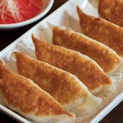 Pan-Fried Shrimp, Pork & Garlic Chives Dumplings
