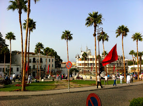 Photo: Grand Socco (central square) which divides the old Medina from the newer part of Tangier.