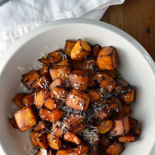 Roasted Butternut Squash with sage and Parmesan