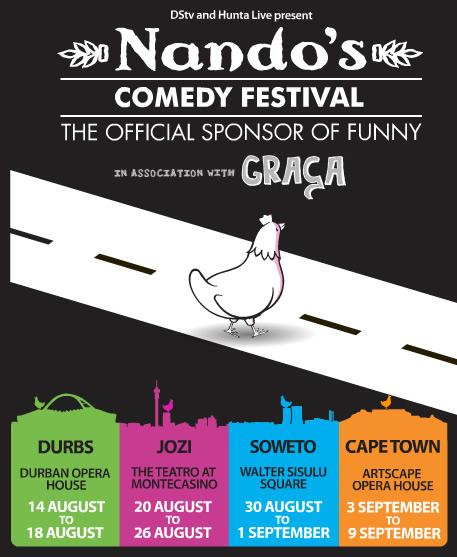 Photo: Nando's Comedy Festival Sudáfrica