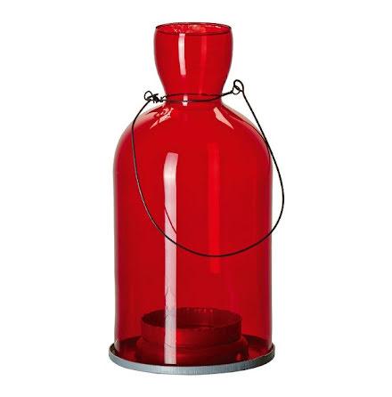Tingle Röd - Hängande Flasklykta - 10x21cm