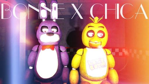 Bonnie x Chica FNaF Fan Art